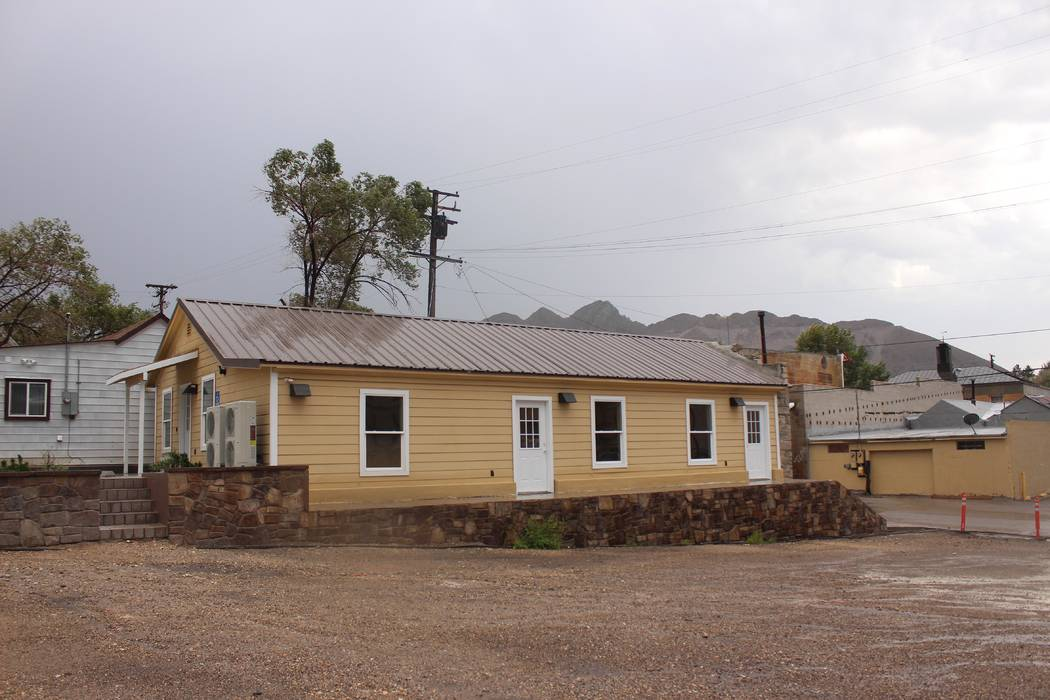 Jeffrey Meehan/Pahrump Valley Times The finishing touches are being put on the new hostel project on the southeast corner of Brougher Avenue and Mineral Street in Tonopah. No specific date has bee ...