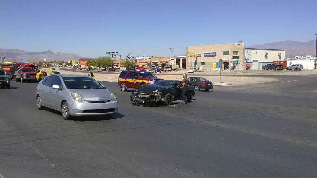 Woman injured in Pahrump motorcycle crash