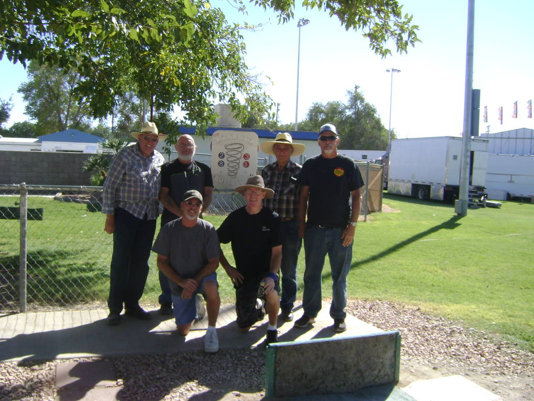 Mike Norton/Special to the Pahrump Valley Times  The winners of the Fall Festival Horseshoe Tournament, from left to right: Dennis Andersen-Bo Anders, second place; Mark Kaczmarek-Dan Dunn, first  ...