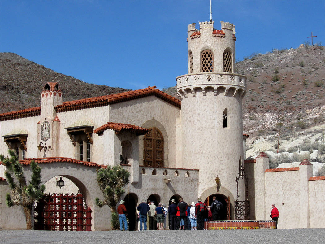 Special to the Pahrump Valley Times A look at Scotty's Castle prior to the October 2015 flood. Scotty's Castle has been closed since the flash flood heavily damaged the area. On Oct. 7-8 event w ...