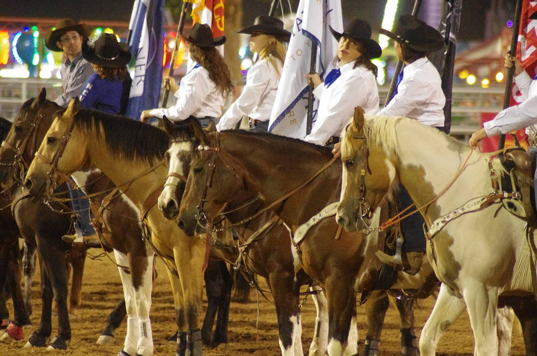 Vern Hee/Pahrump Valley Times The rodeo came to Pahrump with fanfare, and sheer pagentry.