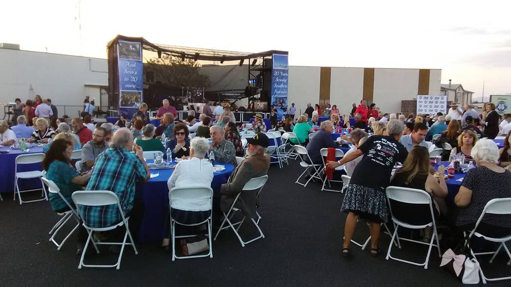 Selwyn Harris/Pahrump Valley Times  More than 400 invited guests attended the KPVM 20th anniversary celebration at the station located on Higley Road. The event also served as a reunion for past a ...
