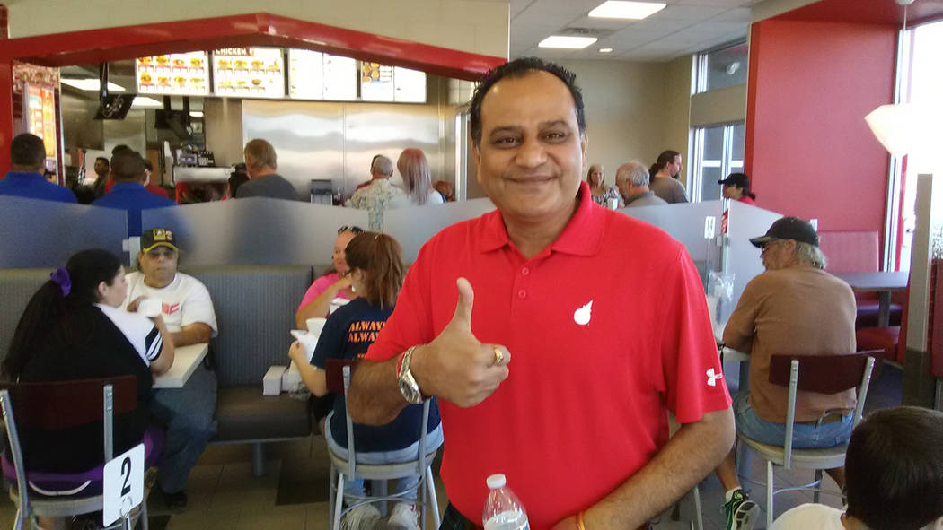 Selwyn Harris/Pahrump Valley Times  Jack in the Box Franchise Owner Jyoti Madhura was overjoyed with the community response to the opening of Pahrump's Jack in the Box on Thursday. Madhura, who  ...