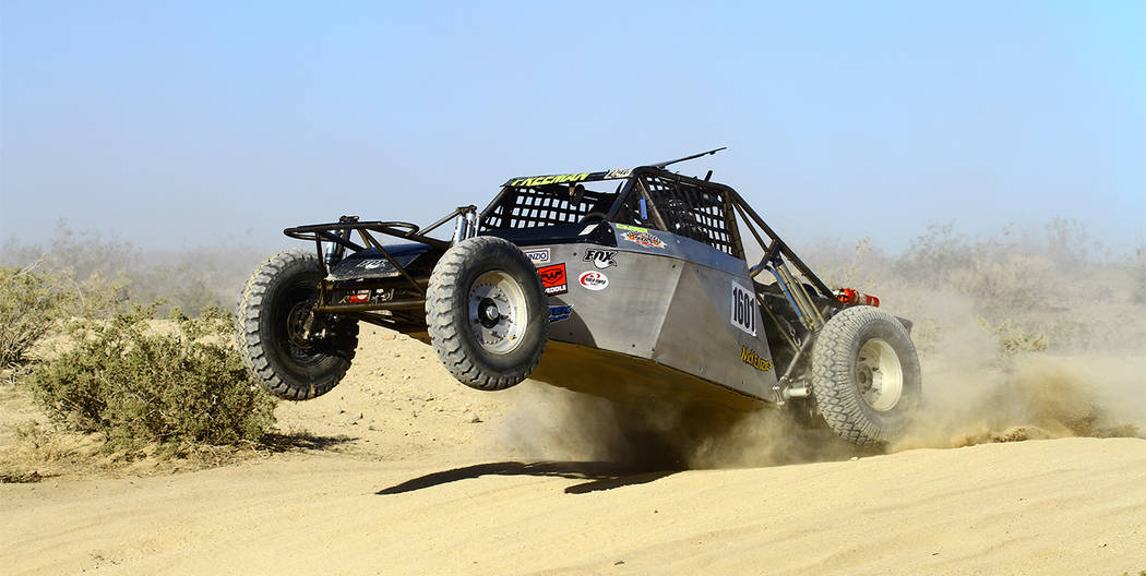 Special to the Pahrump Valley Times  Ken Freeman races his car through the desert. Freeman is on the board for the Southern Nevada Off-Road Enthusiasts and is a past president of SNORE. He can be  ...