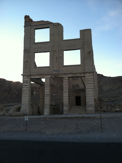 Lillian Browne/Pahrump Valley Times file photo The ruins of the former John S. Cook Bank in Rhyolite as shown in a file photo. Public walking tours of Rhyolite are planned for Oct. 14.