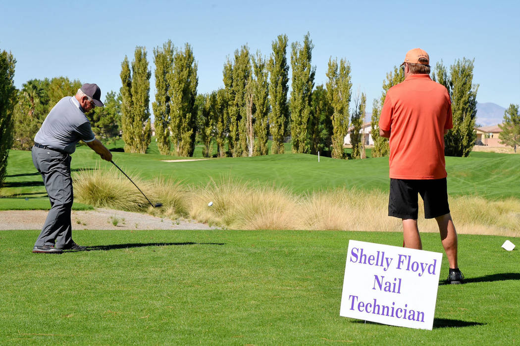 Peter Davis/Special to the Pahrump Valley Times  Local golfers at last year's tourney came together to help U-Turn for Christ raise money for their men's ranch in Pahrump. The ranch helps men  ...