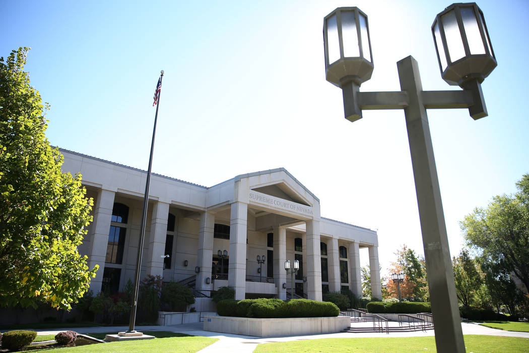 David Guzman/Las Vegas Review-Journal The Nevada Supreme Court building in Carson City as shown in a file photo. The court upheld a death penalty case on Thursday.