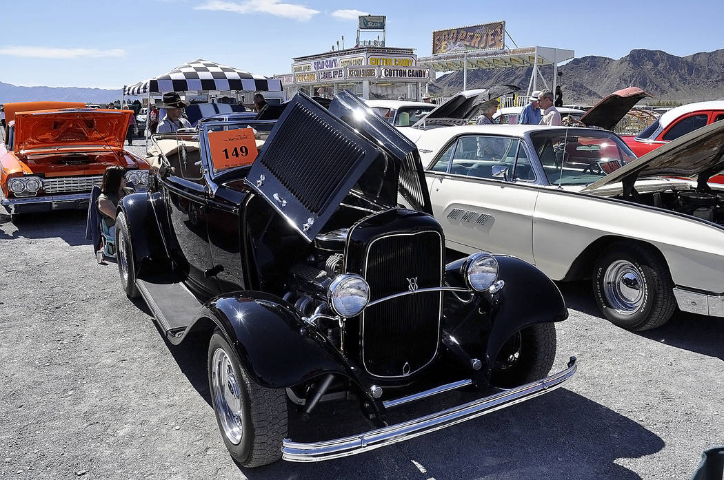 Horace Langford Jr./Pahrump Valley Times -   Martin Paine's 1932 Ford Roadster. Paine said the car was under a cover for 15 years when he got his hands on it and it took him five to six weekends t ...