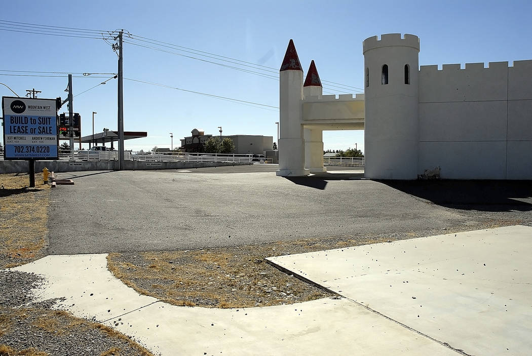 Horace Langford Jr./Pahrump Valley Times In the recent photo of the Kingdom parking lot, it clearly can be seen that there are no parking stalls yet and there is no landscaping. These are two thin ...