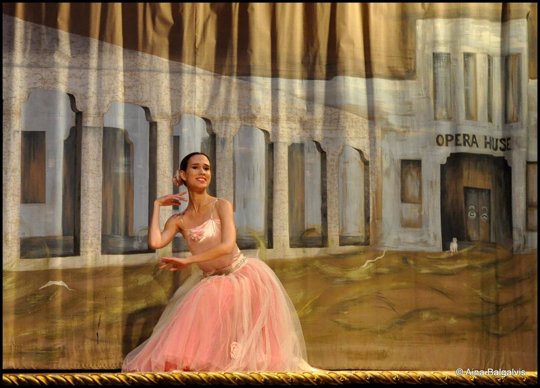 Aina Balgalvis/Special to the Pahrump Valley Times Hilda Vazquez, a protege of Marta Becket, onstage at the Amargosa Opera House. For the first time since its inauguration nearly 50 years ago, the ...