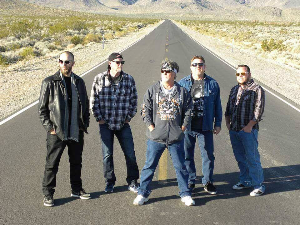 "Special to the Pahrump Valley Times  The band, ""Nearly Departed,"" from left to right: Jud Holtan on keyboard, Bobby Woods on lead guitar, Troy Hope on vocals, Bob White on bass guitar and Sean ..."