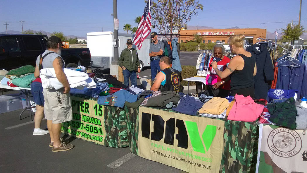Selwyn Harris/Pahrump Valley Times  Pahrump's Disabled American Veterans Chapter 15 has been a mainstay at the annual Pahrump Veterans Stand Down over the years. The agency provided clothing and ...