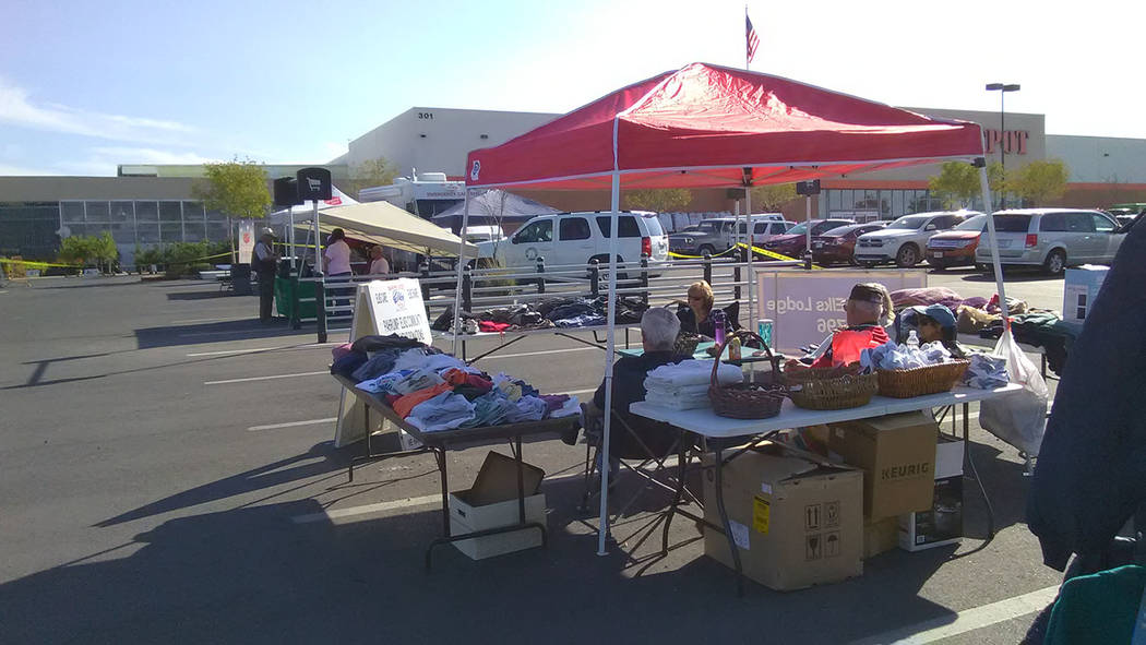 Selwyn Harris/Pahrump Valley Times Showers, massages and even pet supplies were provided for area veterans at last week's Veterans Stand Down. Home Depot has hosted the event for the past several  ...