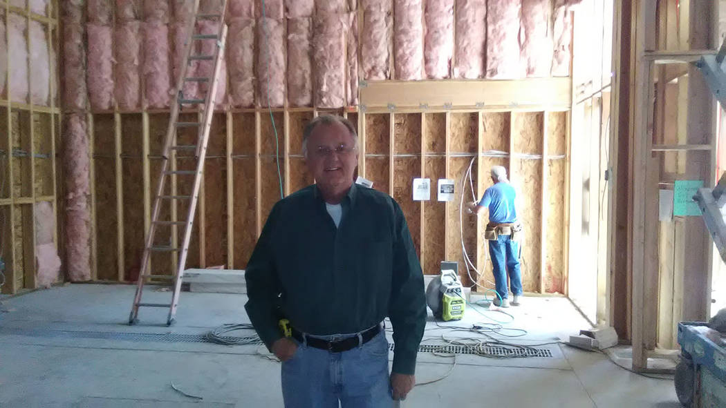 Selwyn Harris/Pahrump Valley Times Sometime next year, the spot where Pahrump Valley Winery owner Bill Loken stands will be a functioning addition to the facility. Loken said he's adding 7,000 squ ...