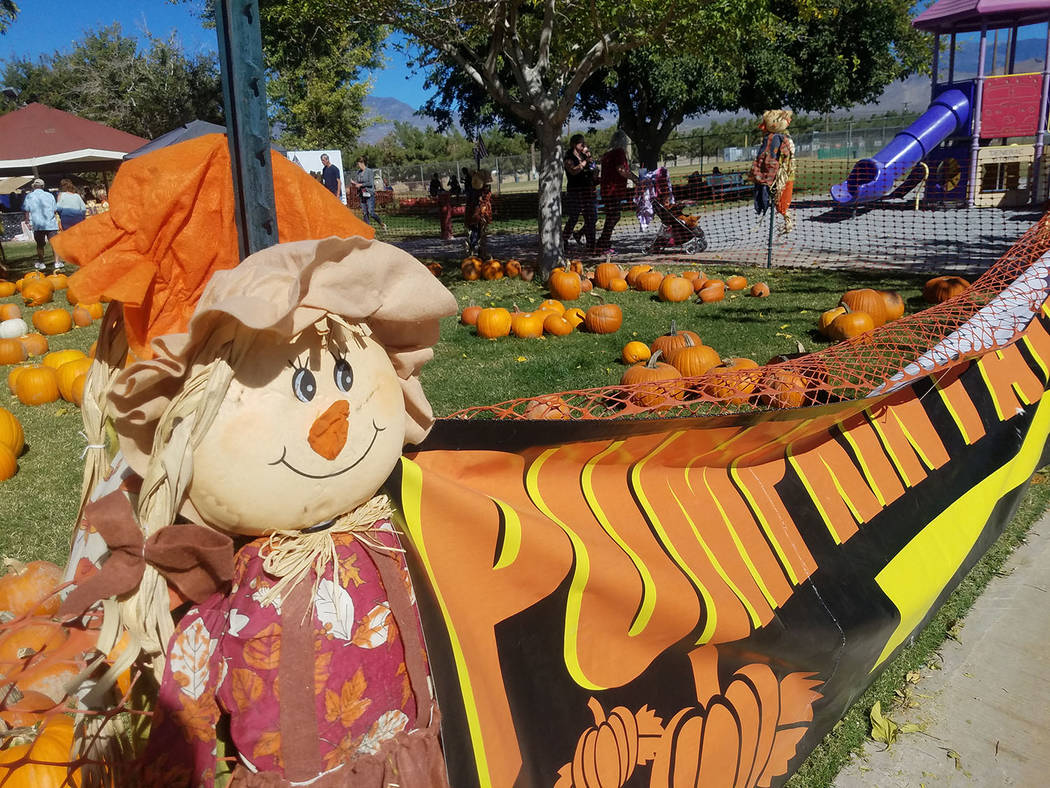 David Jacobs/Pahrump Valley Times A look at a display for Pumpkin days as shown on Saturday, Oct. 21 at Ian Deutch Memorial Park in Pahrump