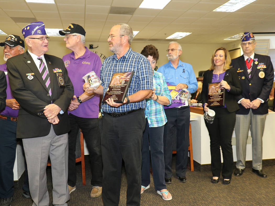 Special to the Pahrump Valley Times On Oct. 17, Nye County commissioners adopted a proclamation designating Nye County as the first Purple Heart County and Pahrump as the first Purple Heart town i ...