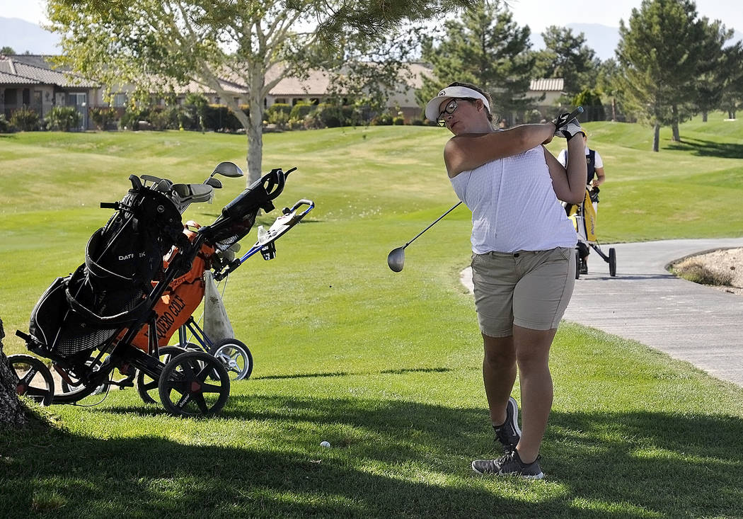 Horace Langford Jr./Pahrump Valley Times  Pahrump senior golfer Desirae Hembree shot a 212, finishing in 23rd place at state.