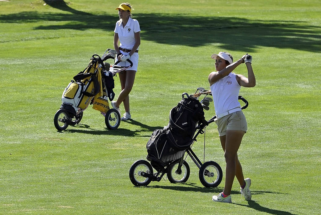Horace Langford Jr./Pahrump Valley Times  Junior Jessica Pearson shot a 207 for her two days of golf at state, finishing 20th out of 44 state golfers.