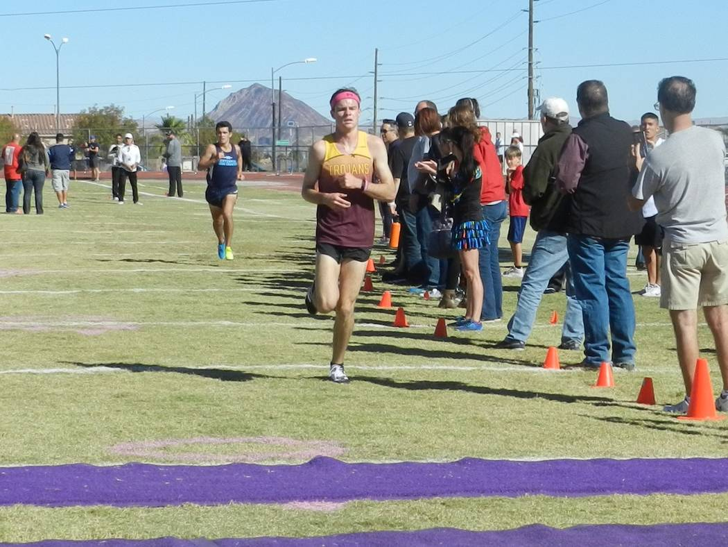 Special to the Pahrump Valley Times Bryce Odegard finishes with time to spare, finishing in first. The boys as a team also finished in first place, which helped them with their confidence going in ...