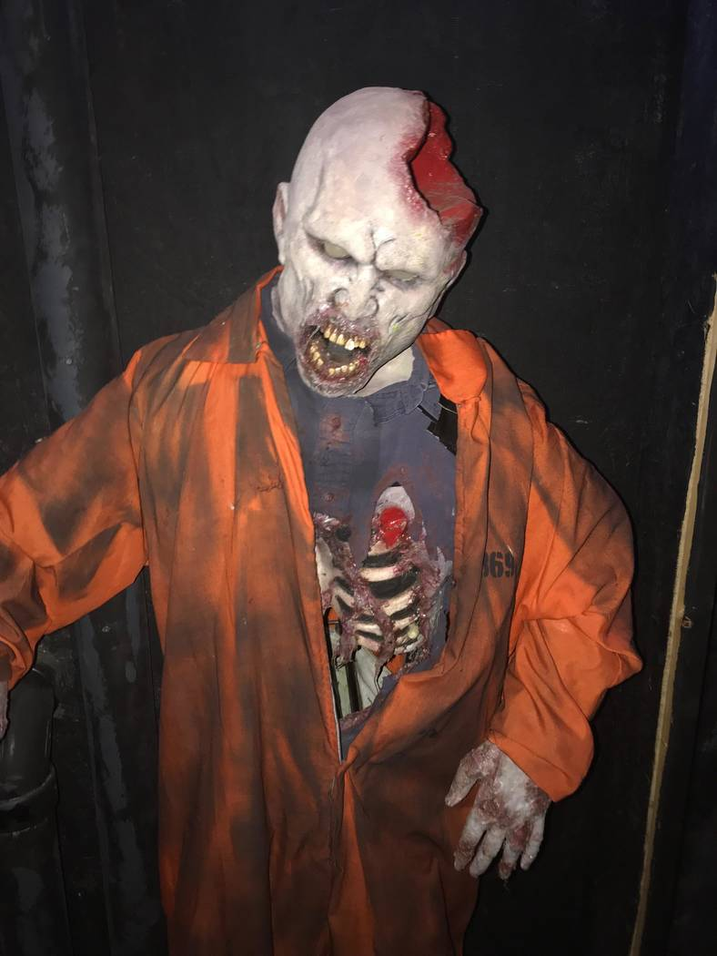Jeffrey Meehan/Pahrump Valley Times Props inside a haunted attraction at 560 Starlight Drive in Pahrump await those who dare enter this evening (Friday) at nightfall. That attraction is $7 and bui ...
