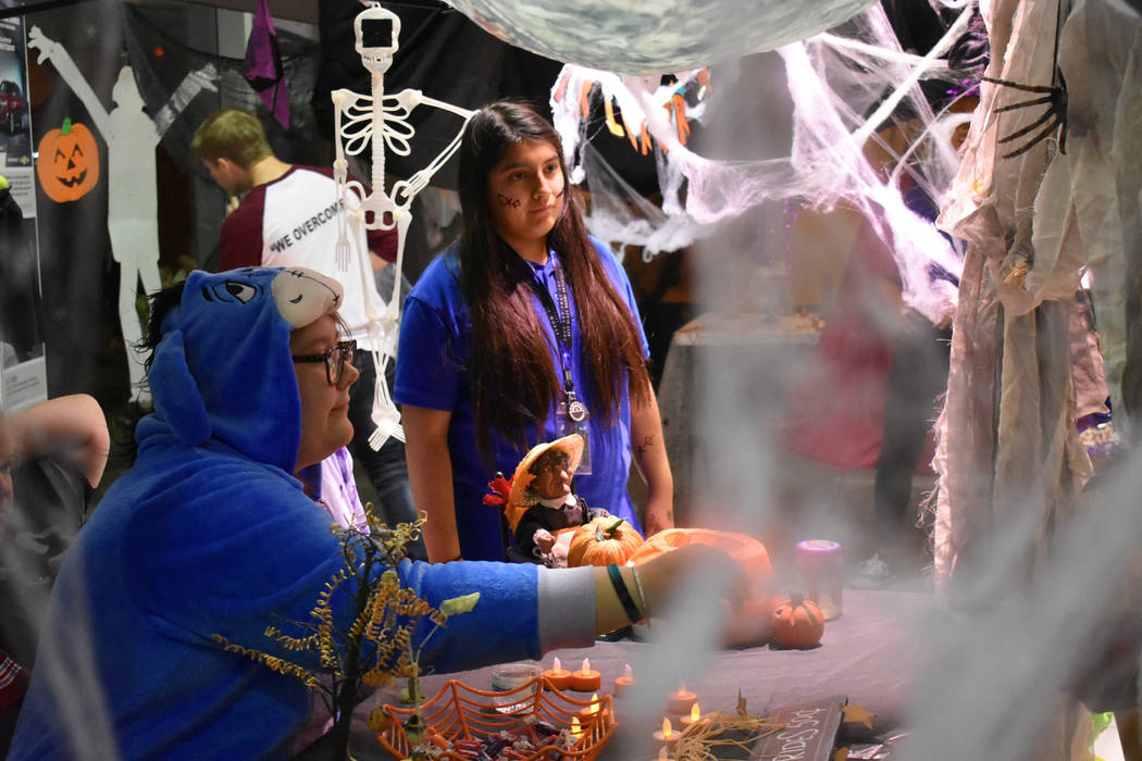 Daria Sokolova/Pahrump Valley Times Pahrump Valley Auto Plaza hosted a fourth annual Halloween on Saturday. The event was organized in conjunction with Pahrump Valley High School and several clubs ...