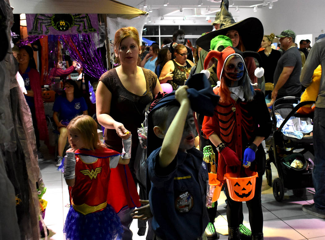 Daria Sokolova/Pahrump Valley Times Organizers said the annual Halloween event at the Pahrump Valley Auto Plaza has been growing since it started 4 years ago. This year, attendees could get their  ...
