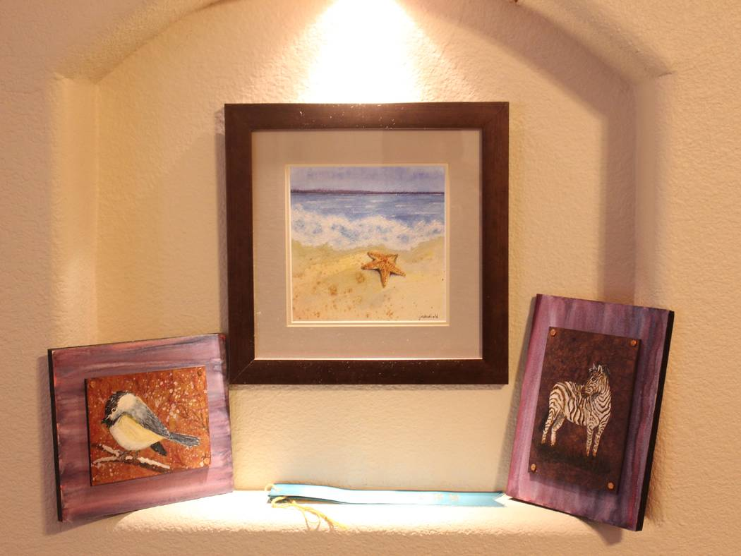 Jeffrey Meehan/Pahrump Valley Times Jessica Wakefield, co-owner of Silver State Traders, is offering her original artwork for sale at her new retail shop at 1731 N. Murphy St., on the corner of Ut ...