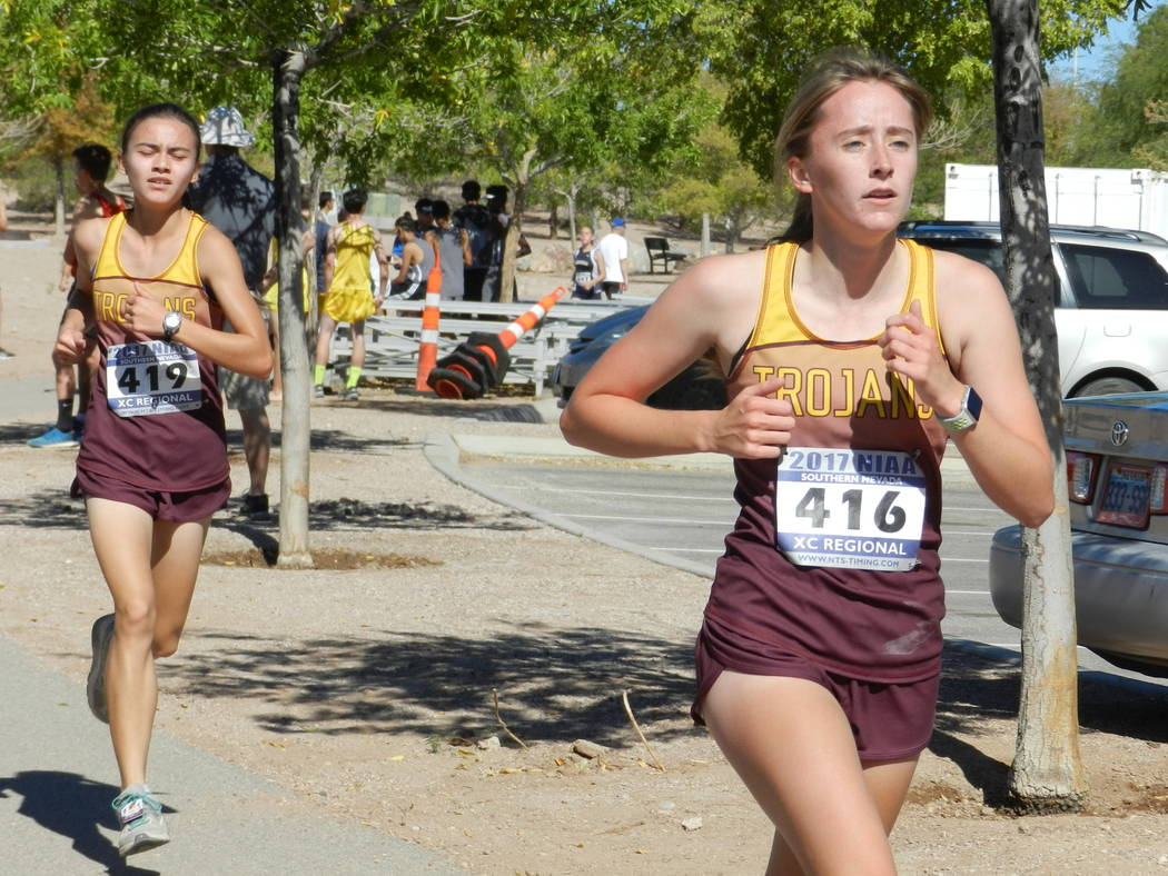 Special to the Pahrump Valley Times  At the regional junior Katherine Goodman (23:42) was 15th, senior Grace Plumb (24:22) was 20th for the girls. The girls finished third at the regional meet and ...