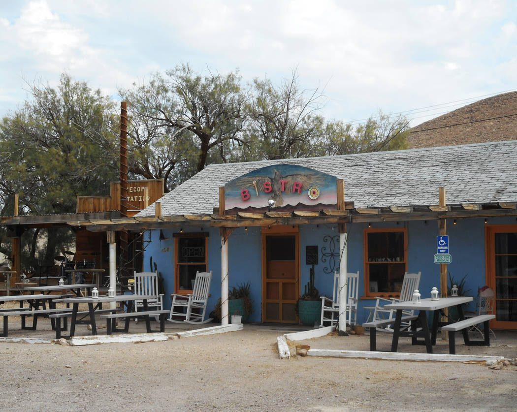 Provided by Robin Flinchum/Special to the Pahrump Valley Times Outdoor view of the Tecopa Bistro. Changes are bringing a new look to the community and its restaurant scene.
