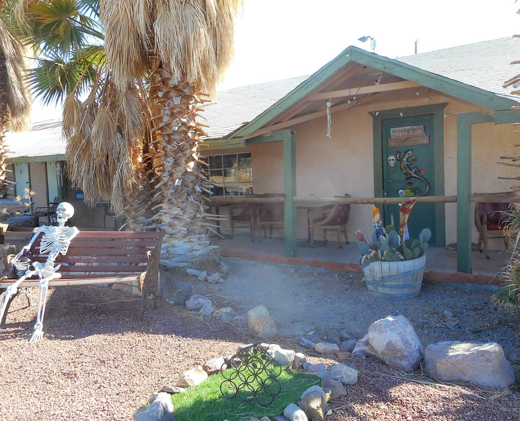 Provided by Robin Flinchum/Special to the Pahrump Valley Times This photo shows a front view of the Death Valley Brewing Company. Times are changing here and a renaissance is underway in Tecopa.
