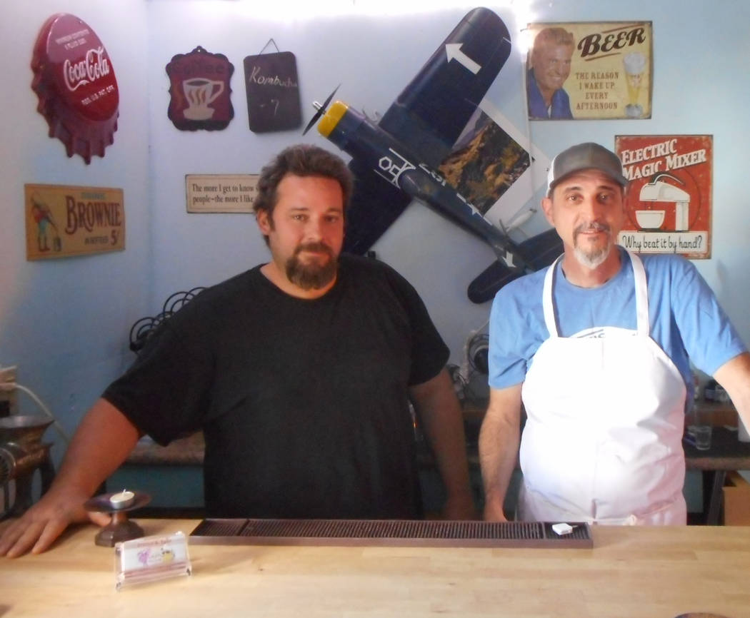 Provided by Robin Flinchum/Special to the Pahrump Valley Times Eric Scott (left) and Joe Flannery (right) inside Steaks and Beer. Times are changing in Tecopa and a restaurant renaissance is under ...