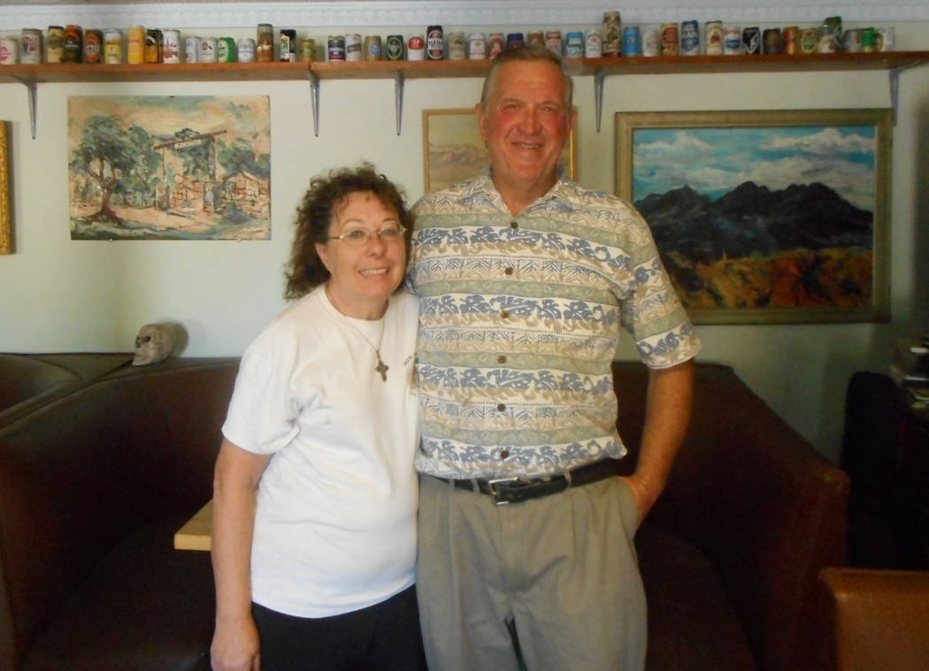 Provided by Robin Flinchum/Special to the Pahrump Valley Times Jon and Cheryl Zellhoefer inside the Death Valley Brewing Company. In the Tecopa community overall, offerings now include a lot of fa ...