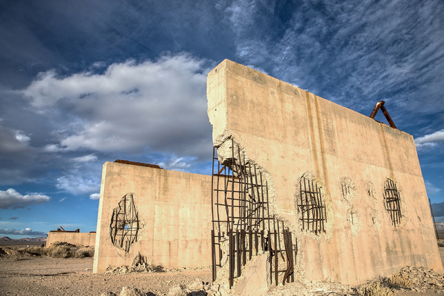 Benjamin Hager/Las Vegas Review-Journal file The remains of a bridge built to measure the effects from a 1957 nuclear detonation test at the Nevada National Security Site, formerly known as the Ne ...