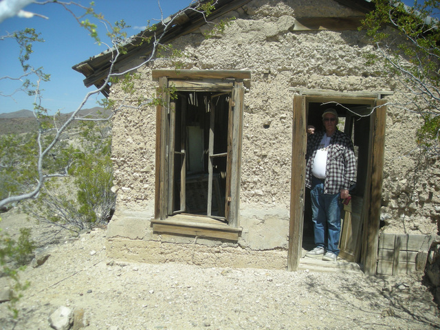 Pahrump Valley Times file photo A cabin on the Johnnie Mine site as shown in a 2014 photo. The road over the Johnnie Summit from Pahrump to U.S. Highway 95 was paved in 1966.