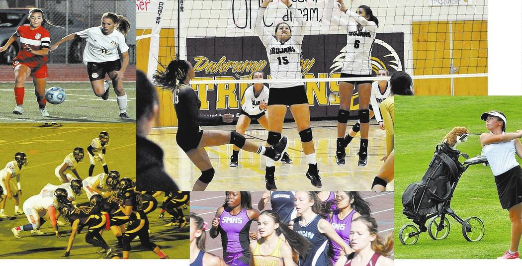Vern Hee/Pahrump Valley Times The Trojans make post season in five sports, girls golf, cross-country (boys and girls), football, girls soccer and volleyball.