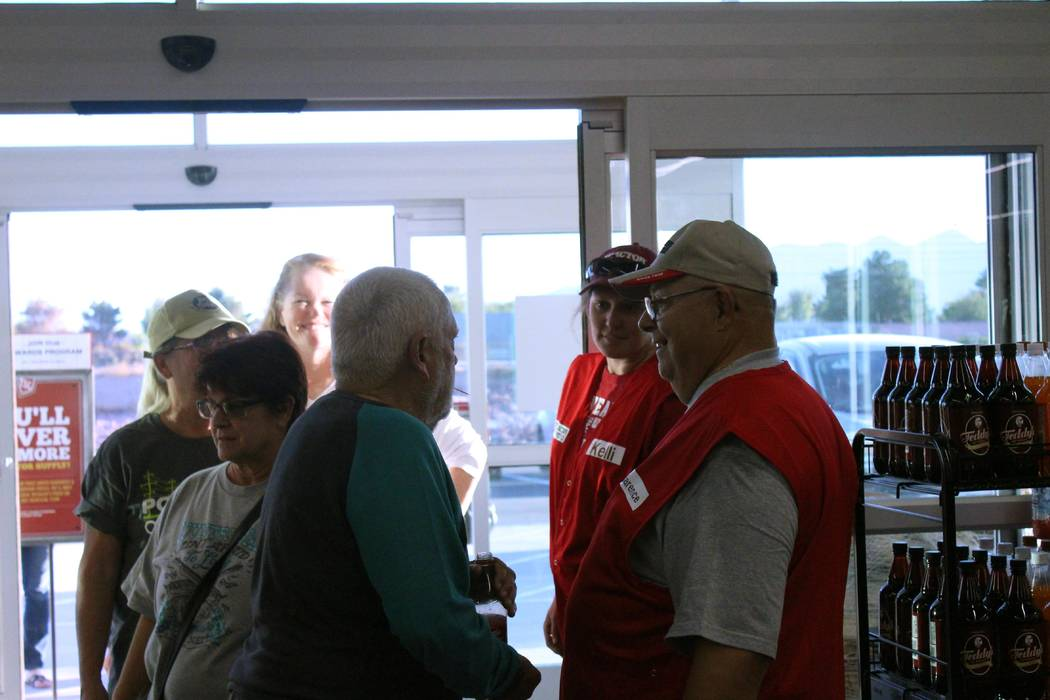Jeffrey Meehan/Pahrump Valley Times  Dozens of shoppers filter into the new Tractor Supply Co. store at 900 E. Highway 372 on Oct. 27, 2017. About 250 attended the retail store's preview event.  ...