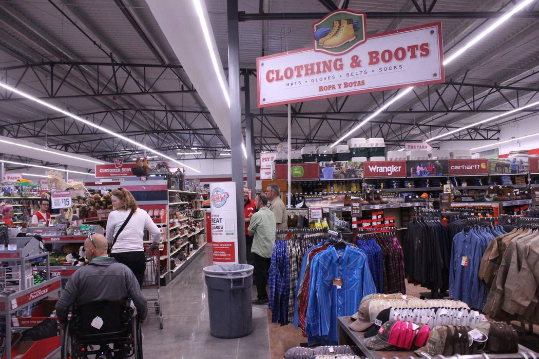 Jeffrey Meehan/Pahrump Valley Times  About 250 people attended a preview event on Oct. 27, 2017 at the new Tractor Supply Co. retail store, checking out the store's hundreds of items geared towa ...