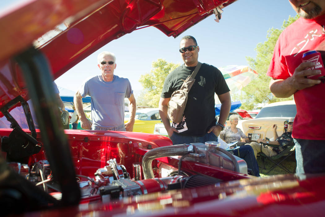 Skylar Stephens/Special to the Pahrump Valley Times Motor of a classic Chevrolet at Beatty Days' car show on Oct. 28, 2017. Several classic hot rods and other vehicles entered during the three-day ...