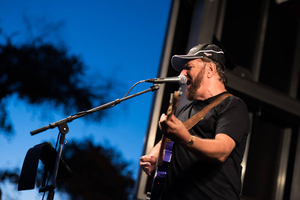Skylar Stephens/Special to the Pahrump Valley Times Country singer Bill Tracy performs at Beatty Days on Oct. 27, 2017. The three-day venue also hosted the Tru Blu Band and other entertainment fro ...