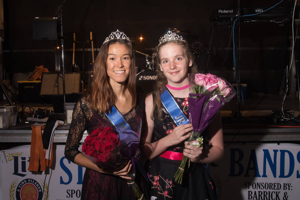 Skylar Stephens/Special to the Pahrump Valley Times Miss Beatty Days Angelina Altman (left) and Jr. Miss Beatty Days Dusay Fields were crowned on Oct. 27, 2017 during the three-day Beatty Days eve ...