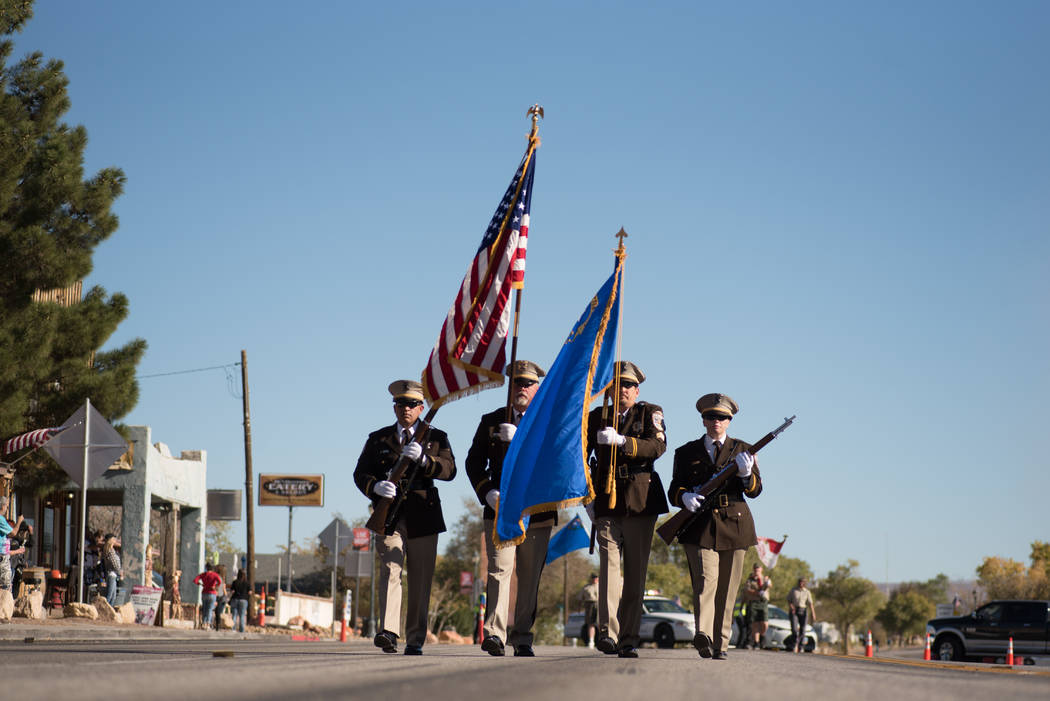 Skylar Stephens/Special to the Pahrump Valley Times The Beatty Days Downtown Parade swept through Beatty on Oct. 27, 2017. Live music, food and fun was also part of the three-day event.
