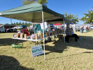 Mary Foley/Special to the Pahrump Valley Times The raffle table at the 10th Annual Obedience & Rally Trials, presented by the Pahrump Valley Obedience Club, and held at Petrack Park from Oct.  ...