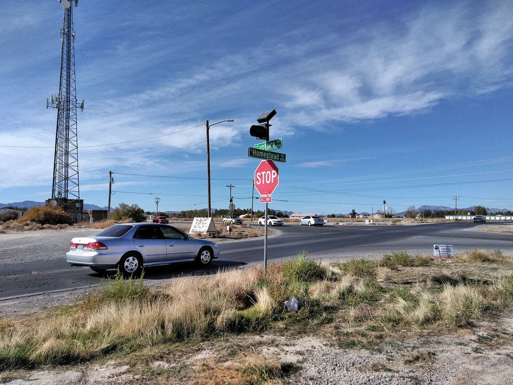 Selwyn Harris/Pahrump Valley Times The long-anticipated road improvement project along Homestead Road gets underway this week. Motorists can expect delays along the corridor between Manse and Game ...