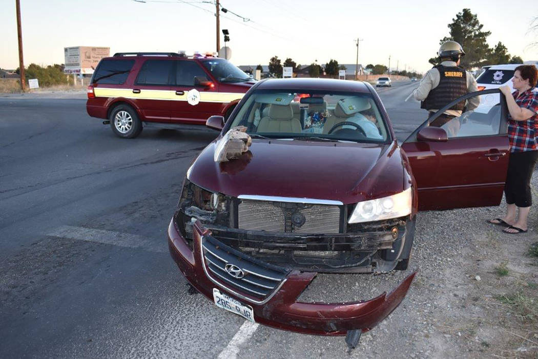 Special to the Pahrump Valley Times Local emergency crews responded to a two-vehicle crash along Homestead Road at Manse on Monday afternoon. The occupants of both vehicles sustained minor injurie ...