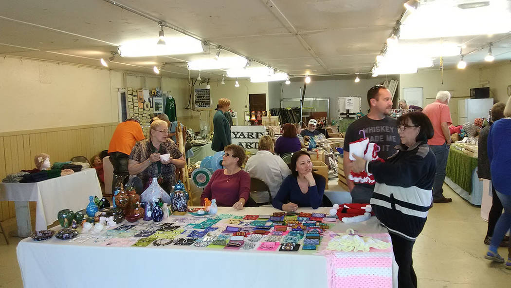 Selwyn Harris/Pahrump Valley Times  There was no shortage of visitors at the arts and crafts portion of the Old West Days event this past weekend, as scores of shoppers and browsers visited the show.