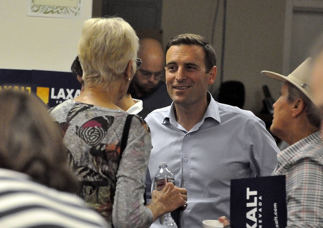 "Horace Langford Jr./Pahrump Valley Times -   Nevada Attorney General Adam Laxalt rounded up his gubernatorial tour ""The Laxalt 17"" with a stop in Pahrump on Tuesday night after visiting all of Nev ..."