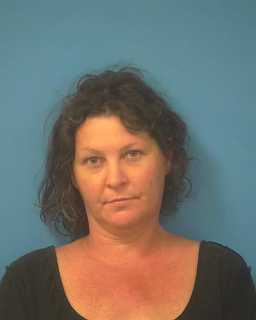 Special to the Pahrump Valley Times  Pahrump resident Janell Ehry, 46, was taken into custody on Halloween night after attempting to flee from sheriff's deputies during an alleged burglary at Hi ...