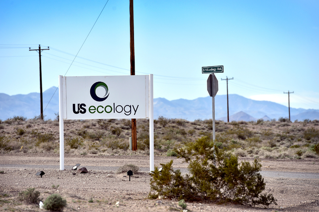David Becker/Las Vegas Review-Journal  The entrance to US Ecology is seen on Tuesday, March 1, 2016, near Beatty.