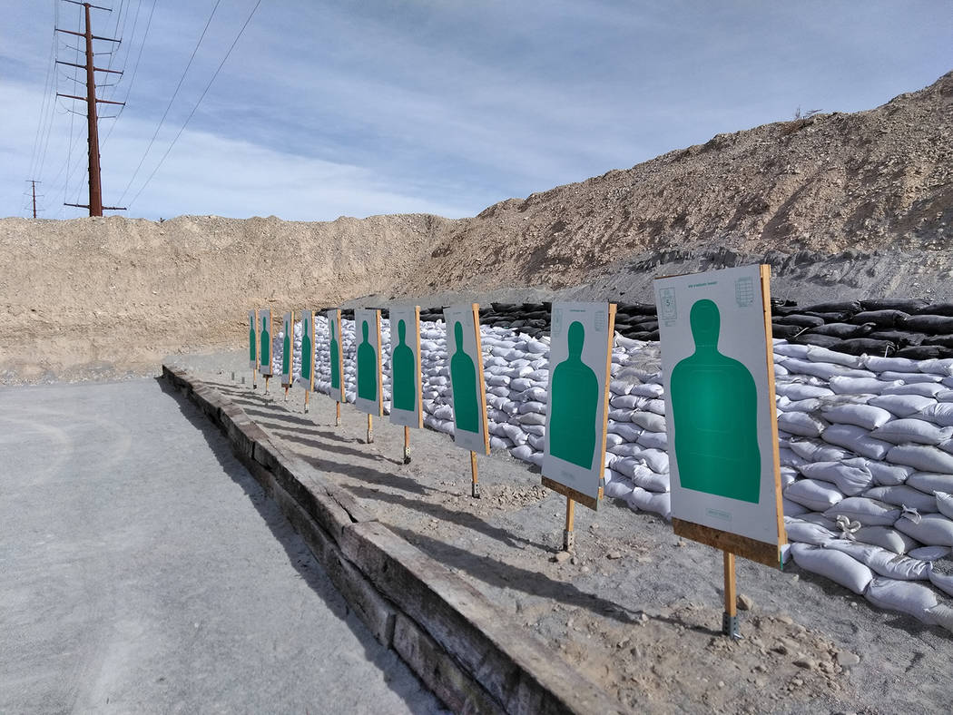 Selwyn Harris/Pahrump Valley Times  Prior to Monday's grand opening, local law enforcement personnel were forced to ask for help from outside agencies to use their target range facilities for fi ...