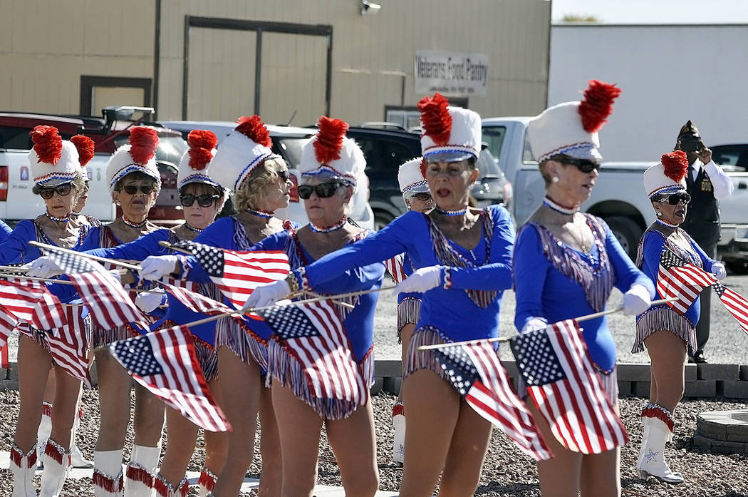 Horace Langford Jr./Pahrump Valley Times Members of the Nevada Silver Tappers were invited to perform a special Flag Dance during the ceremony. The Silver Tappers Dance Troupe have been a mainstay ...